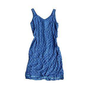 Vintage Blue Pinstriped Dress